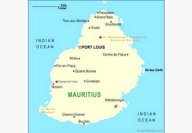 карта Маврикія