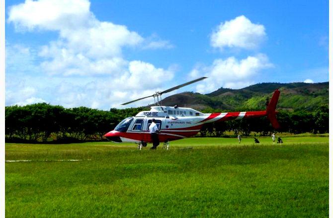 Вертоліт, на якому здійснюються найприголомшливіші екскурсії :)