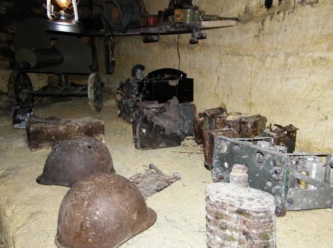 Фото: залишки війни в катакомбах