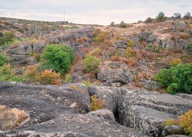 Фото: загальний вид Арбузинського каньйону