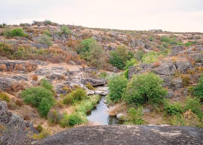 річка Арбузинка у каньйоні