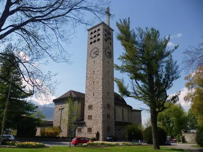 Блуденц: фото церкви Святого Лаврентія