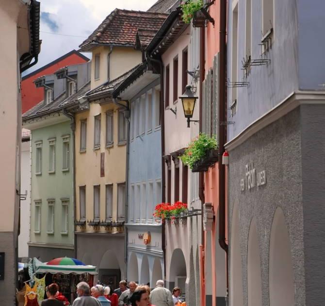 вузькі вулиці міста Блуденц