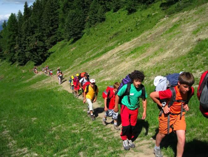 дитячий похід в гори з інструктором