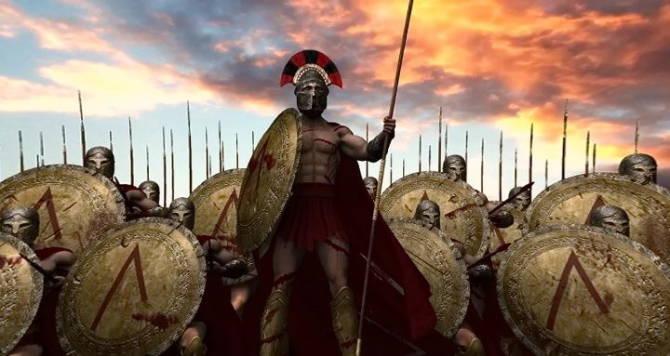 літера *Л* на щитах спартанців