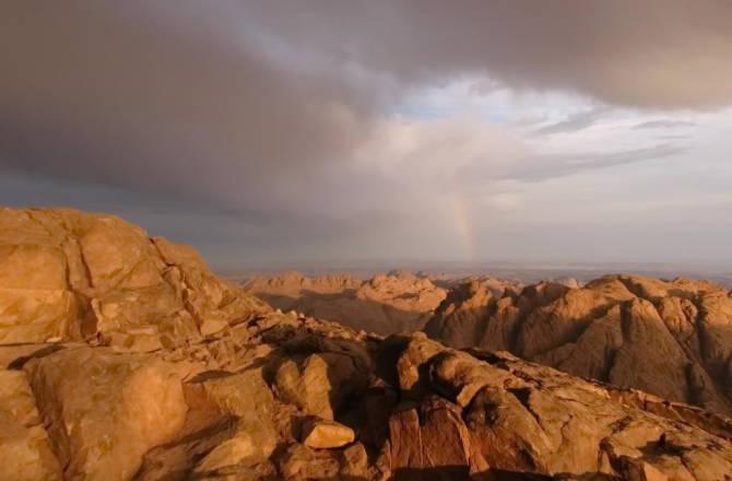 Вид з вершини гори Мойсея