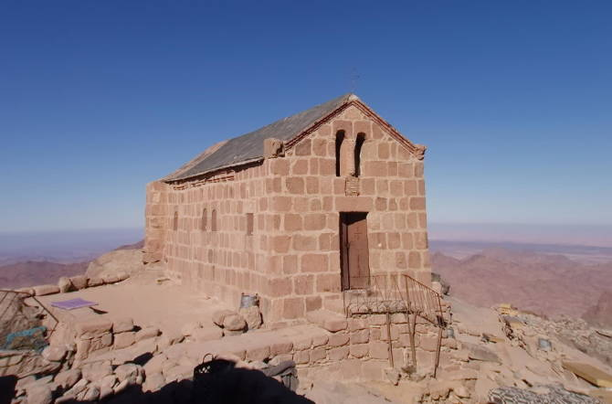 Православний грецький храм в ім'я Святої Трійці на вершині гори Мойсея