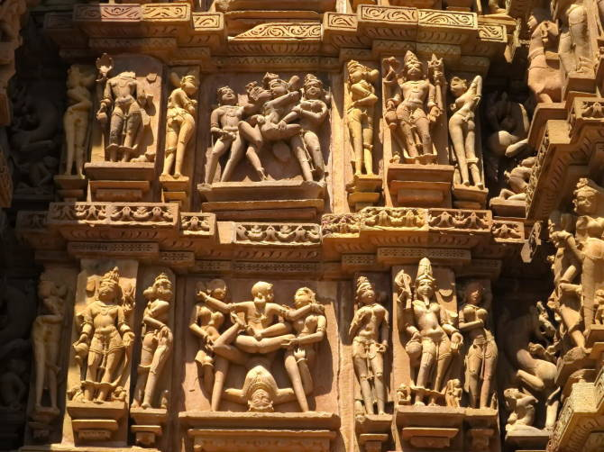 фрагмент стіни храму Деві Джагдамба