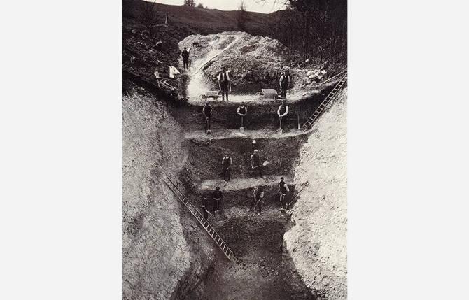 розкопки рову Ейвбері-хенджа 1914 року