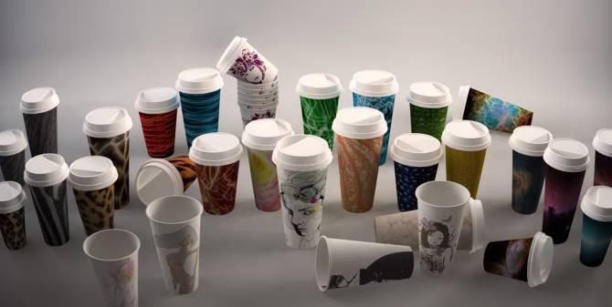 стаканчики из бумаги для кофейни
