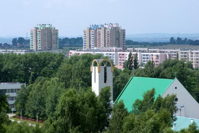 панорама города Либёнж