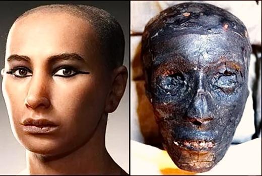 Обличчя і Мумія Тутанхамона