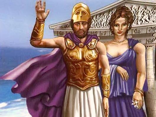 Перикл з дружиною Аспасією