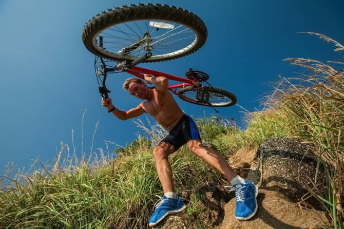 подолання перешкоди з велосипедом