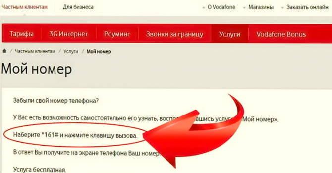 послуга оператора Водафон *Мій номер*