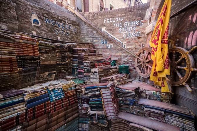Венеция. Затопленный книжный магазин